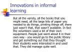 innovations in informal learning21