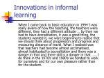 innovations in informal learning30