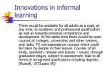 innovations in informal learning8