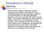 innovations in informal learning9
