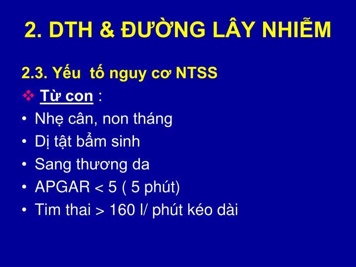 2. DTH & ĐƯỜNG LÂY NHIỄM
