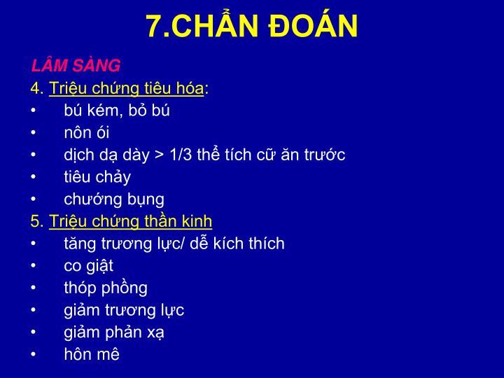 7.CHẨN ĐOÁN