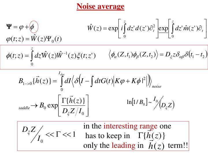 Noise average