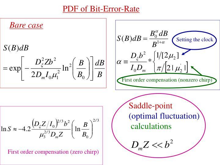 PDF of Bit-Error-Rate