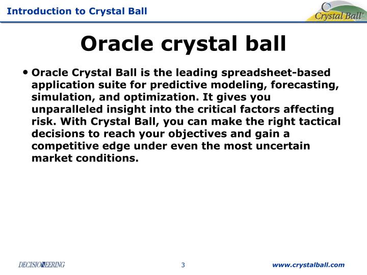 Oracle crystal ball