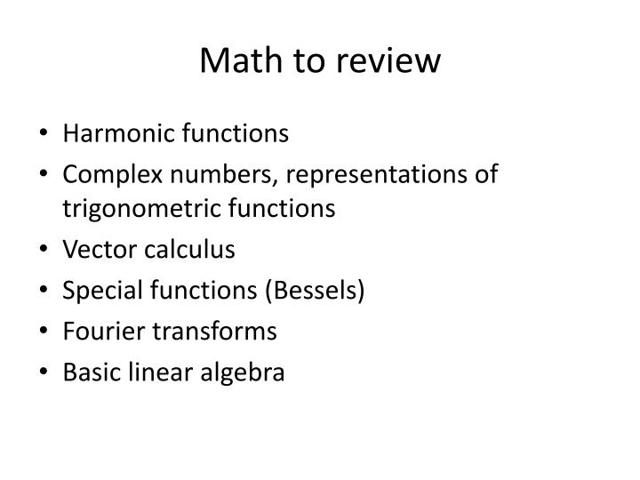 Math to review