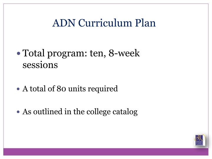 ADN Curriculum Plan