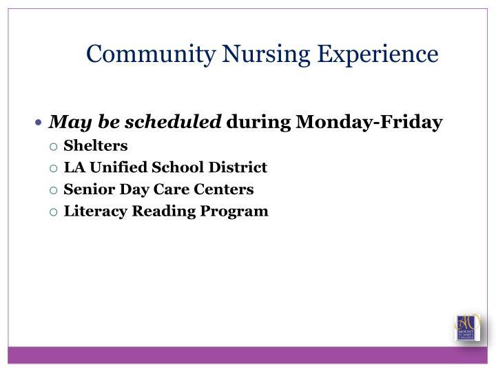 Community Nursing Experience