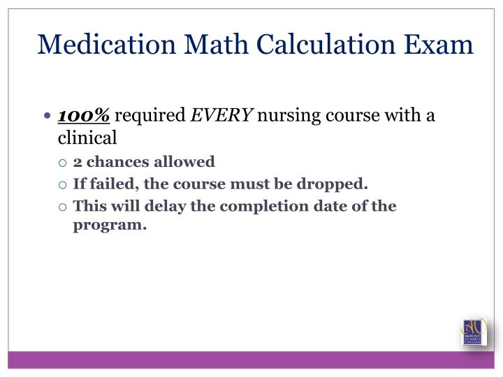 Medication Math Calculation Exam