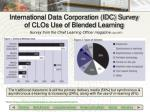 international data corporation idc survey of clos use of blended learning