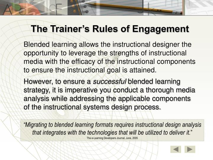 The Trainer's Rules of Engagement