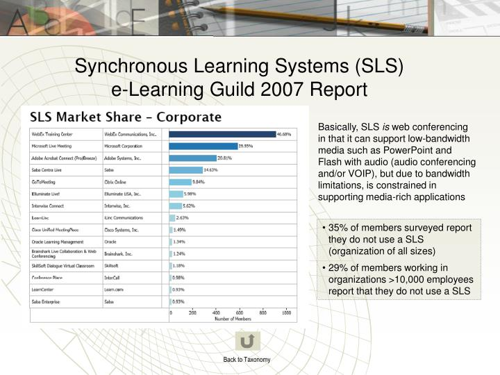 Synchronous Learning Systems (SLS)