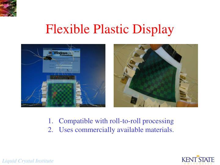 Flexible Plastic Display