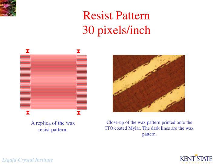 Resist Pattern