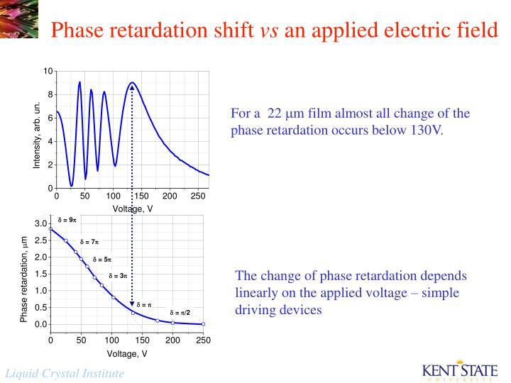 Phase retardation shift