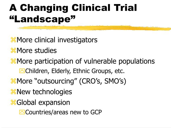 """A Changing Clinical Trial """"Landscape"""""""
