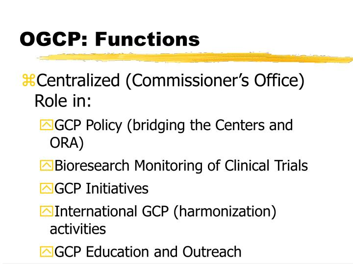 OGCP: Functions