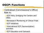 ogcp functions