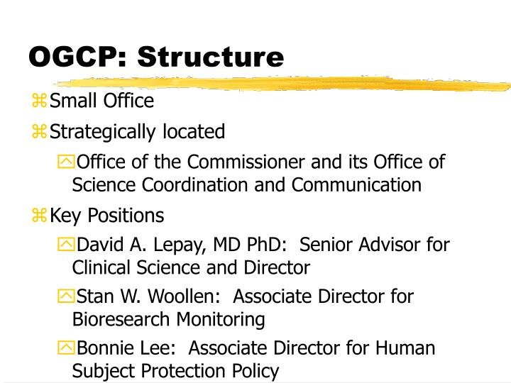 OGCP: Structure