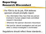 reporting research misconduct