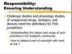 responsibility ensuring understanding1