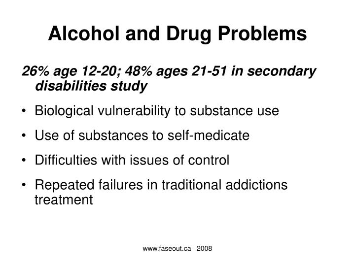 Alcohol and Drug Problems