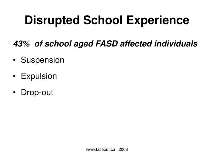 Disrupted School Experience