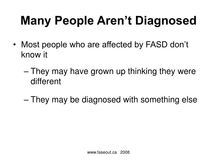 Many People Aren't Diagnosed