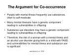 the argument for co occurrence
