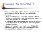 decoupling pay and performance 2