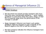 evidence of managerial influence 3