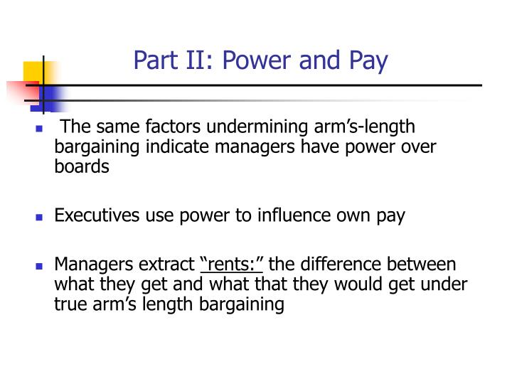 Part II: Power and Pay