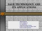 sage technology and its applications
