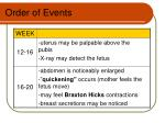 order of events1