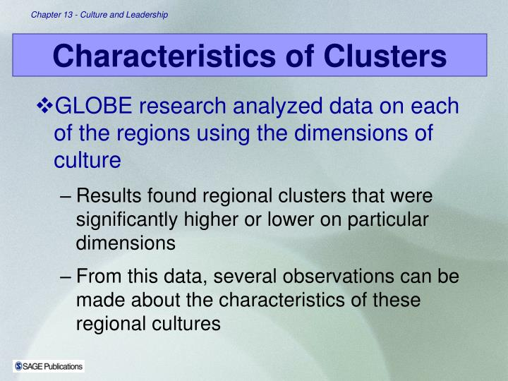 GLOBE research analyzed data on each of the regions using the dimensions of culture