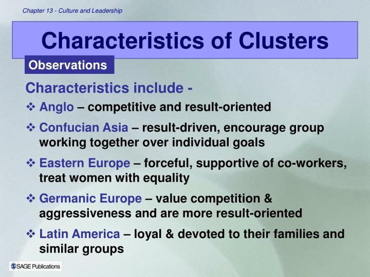 Characteristics include -