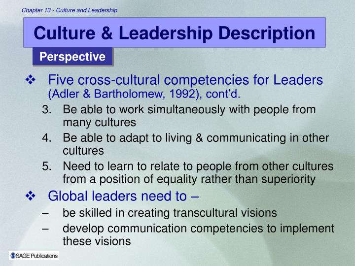 Culture & Leadership Description