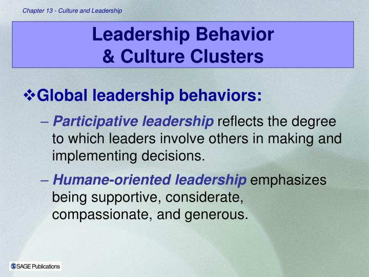 Global leadership behaviors: