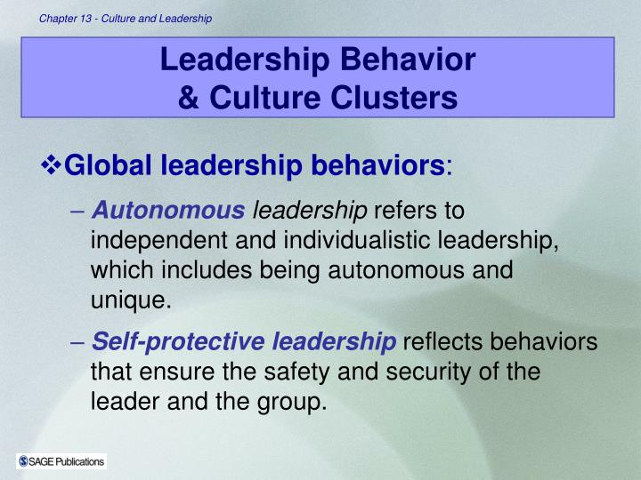 Global leadership behaviors