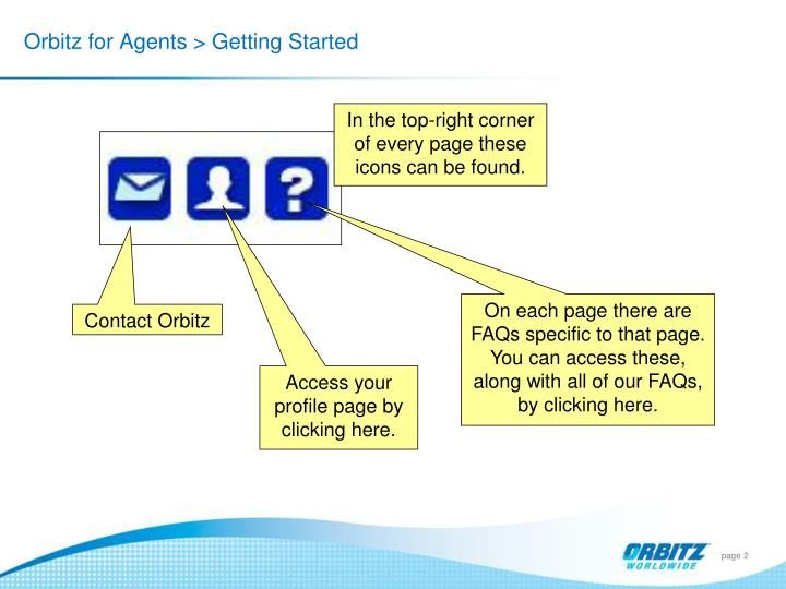 Orbitz for agents getting started1