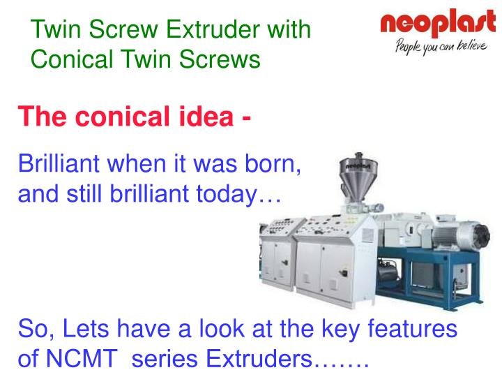 Twin Screw Extruder with