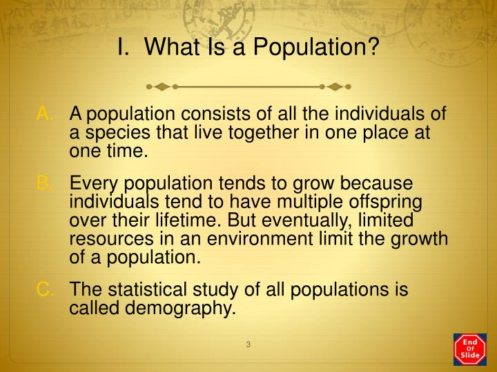 I.  What Is a Population?