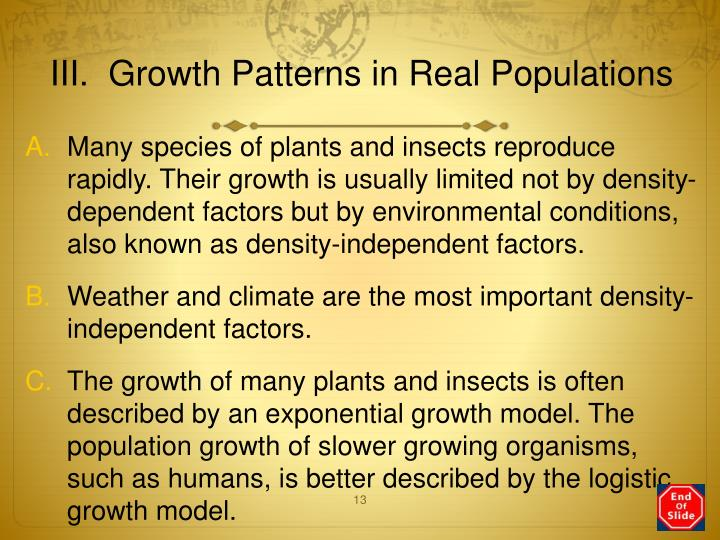 III.  Growth Patterns in Real Populations