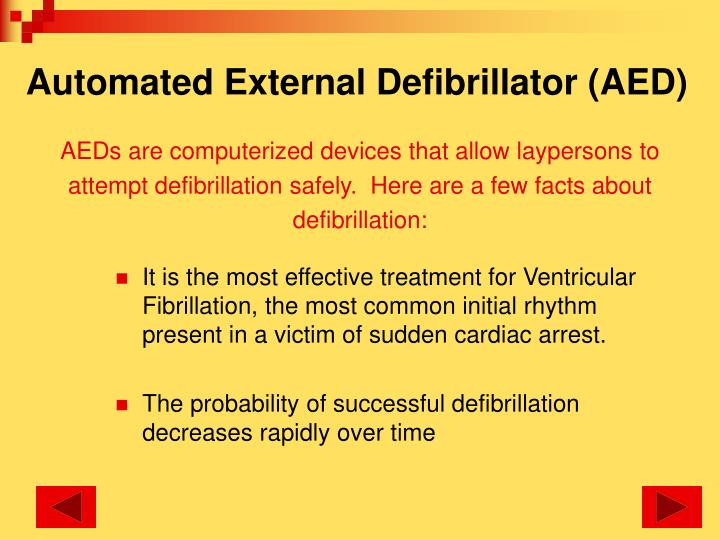 Automated External Defibrillator (AED)