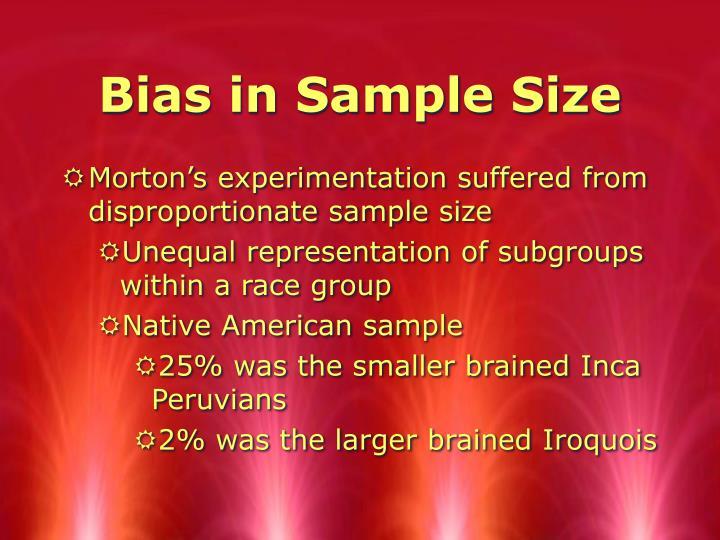 Bias in Sample Size