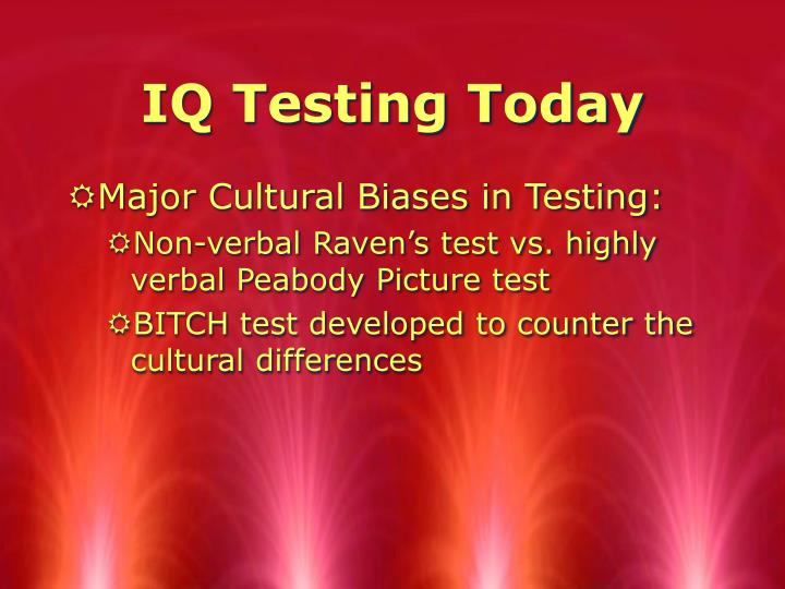 IQ Testing Today