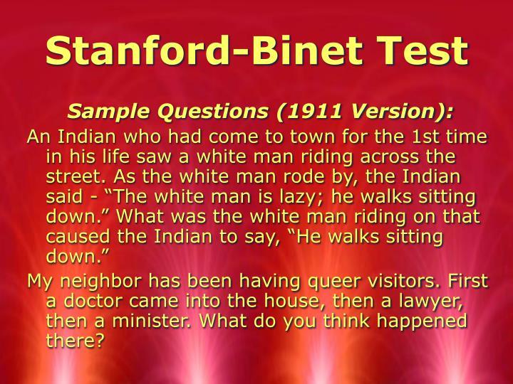 Stanford-Binet Test