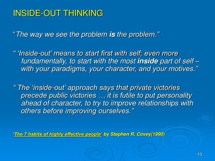 INSIDE-OUT THINKING