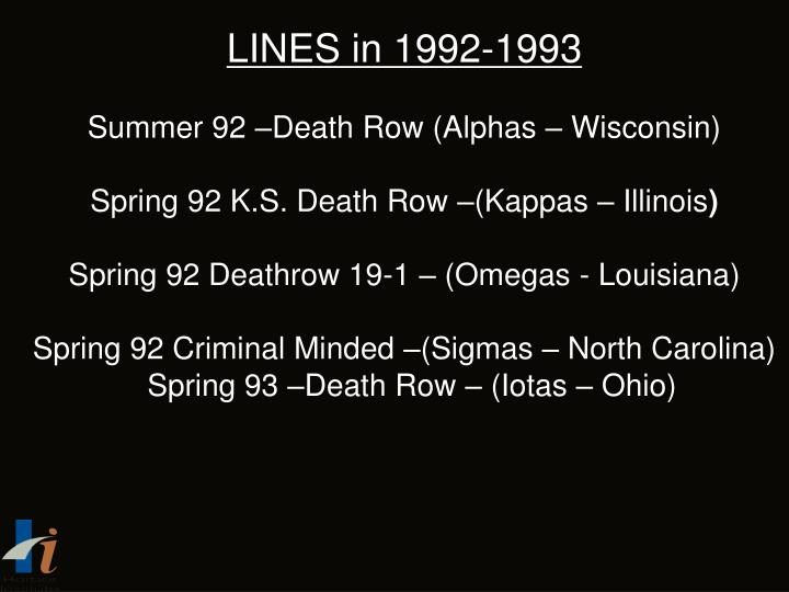 LINES in 1992-1993