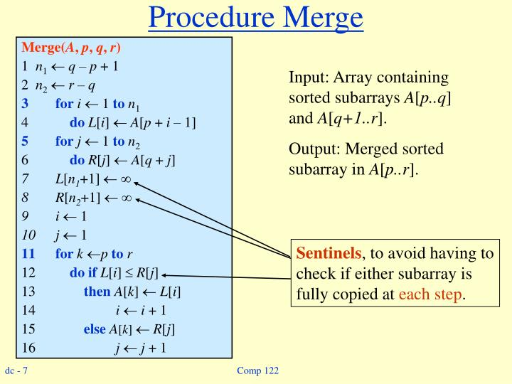 Procedure Merge